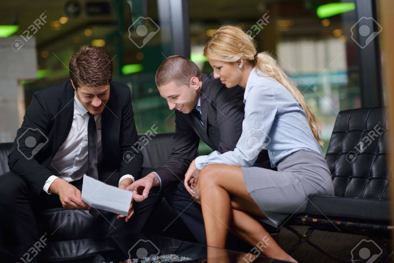 business people  team  group  on a meeting have success and make deal Stock Photo - 15300947