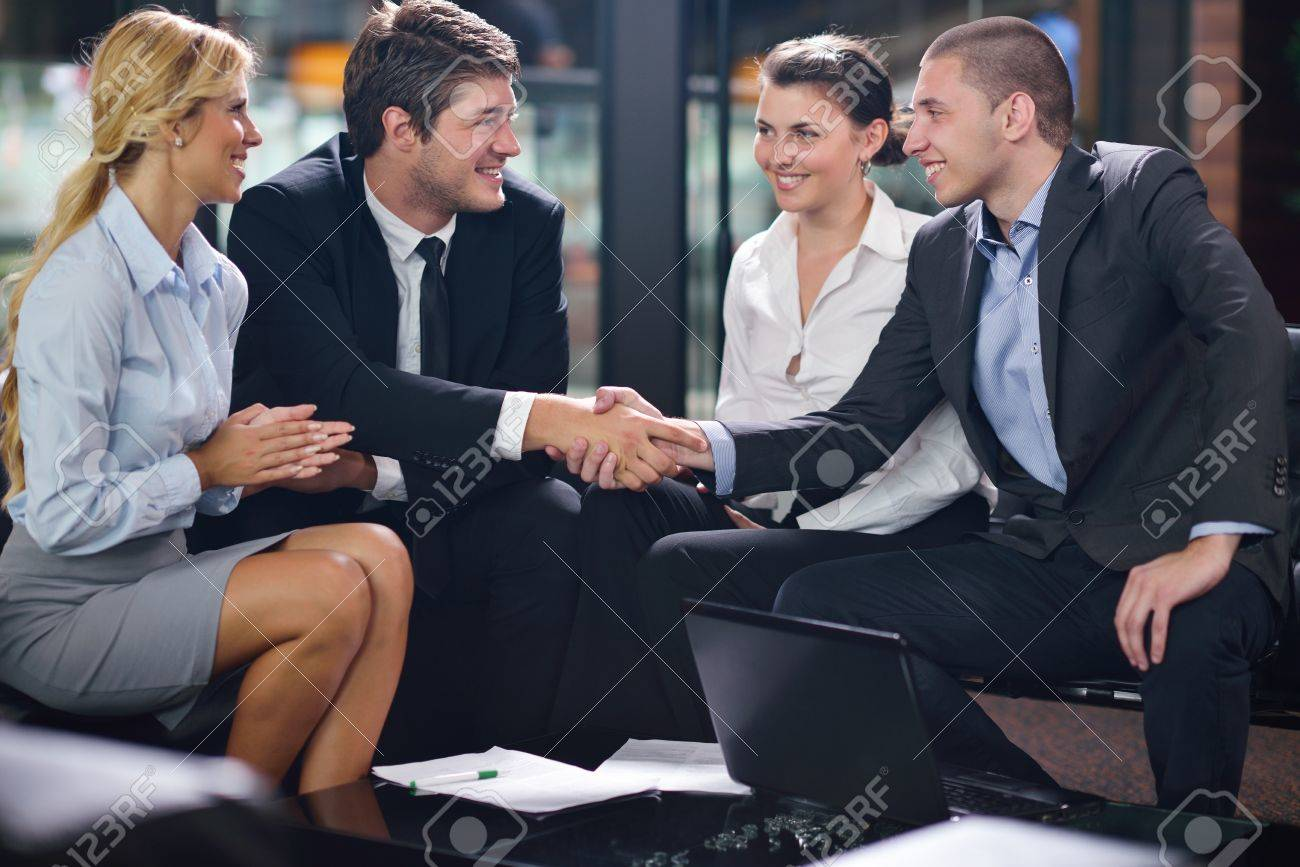 business people  team  group  on a meeting have success and make deal Stock Photo - 15276986