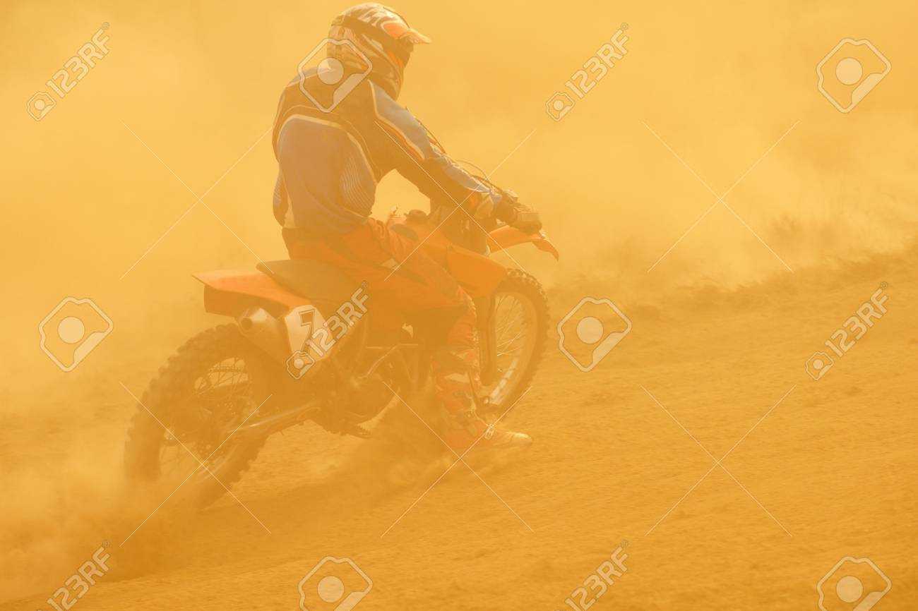 motocross bike in a race representing concept of speed and power in extreme man sport Stock Photo - 16237842