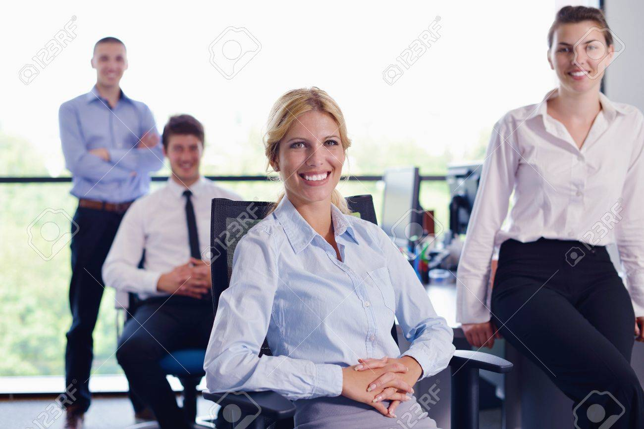 business people  team  group  on a meeting have success and make deal Stock Photo - 16523004