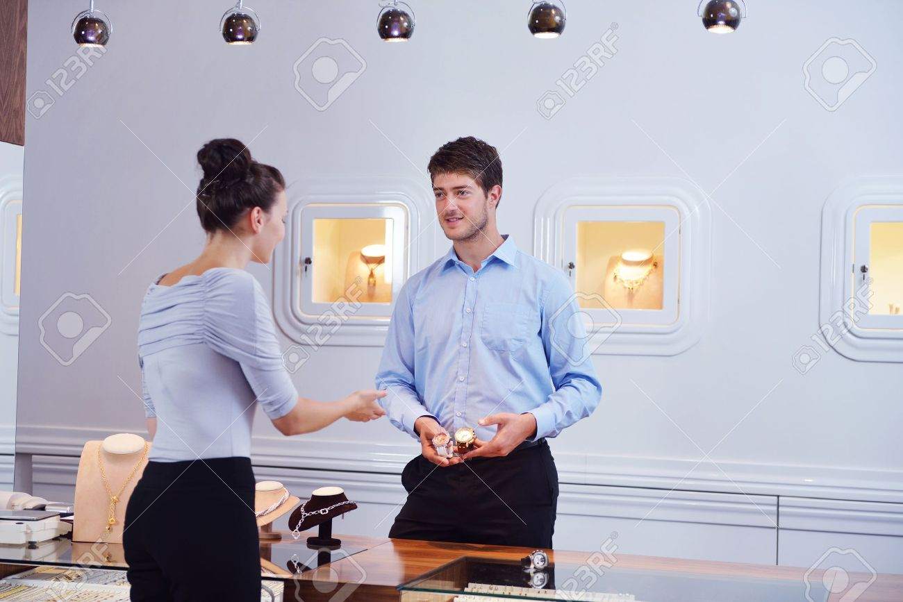 business man selling in jewelry store Stock Photo - 16754099