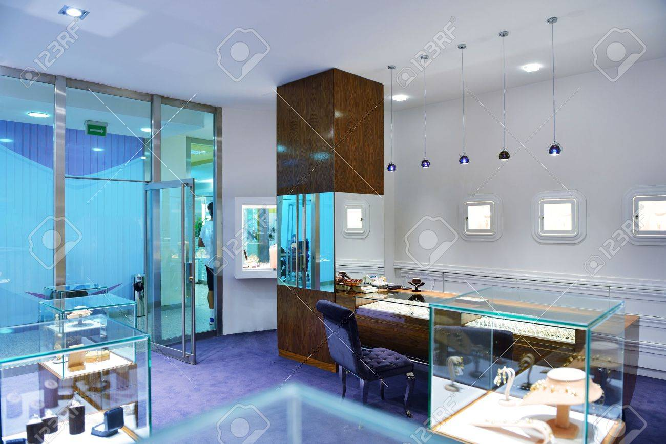 Jewelry store shop indoors small business stock photo 16754094