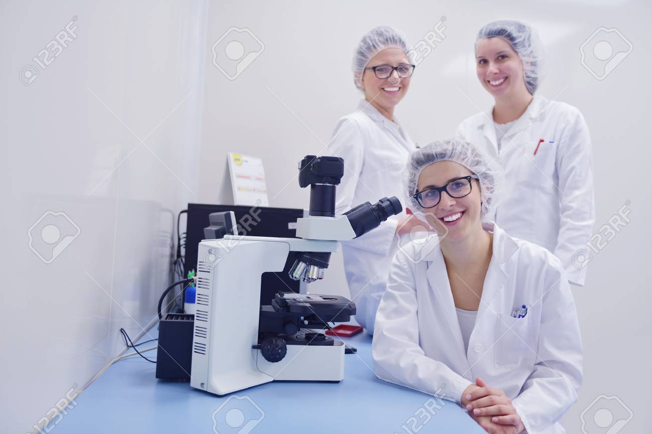 group of scientists working at the laboratory Stock Photo - 16885506