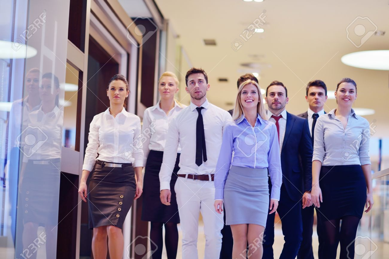 stock photo portrait of business people team group at modern bright office bright office