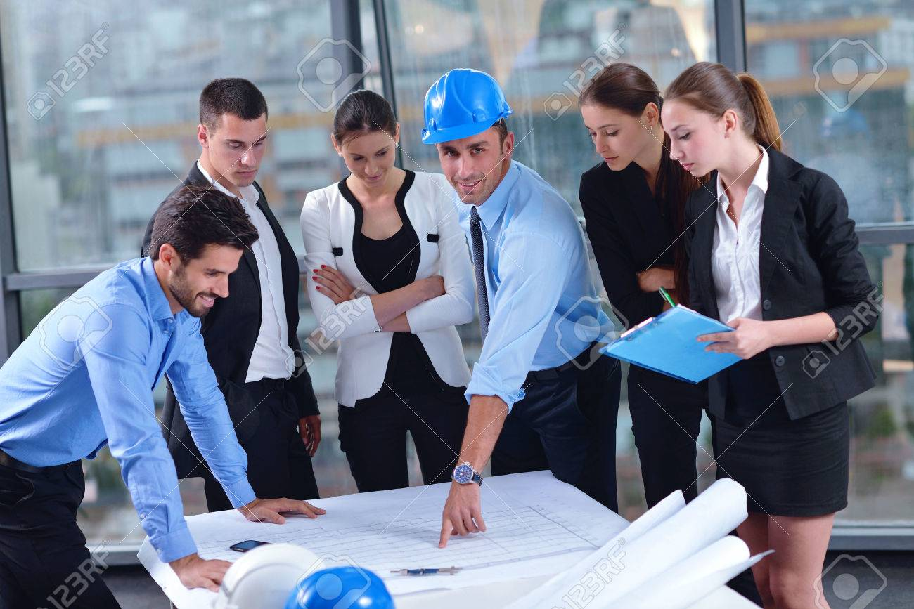 Business presentation group