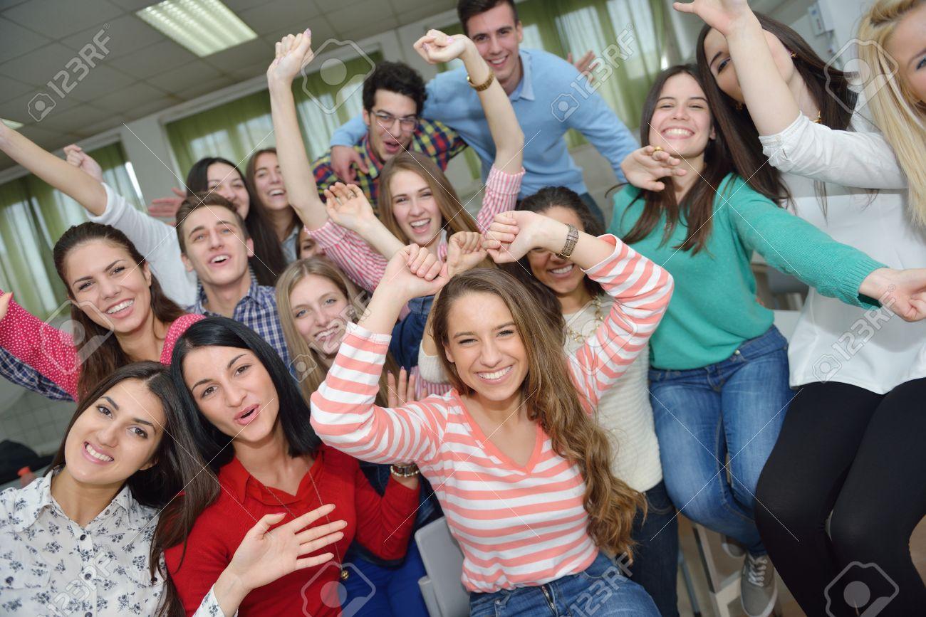 Teens have fun