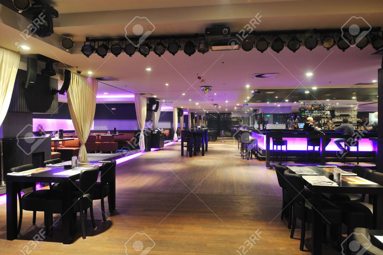 Modern Design Club Restaurant Bar Indoors Stock Photo, Picture And ...
