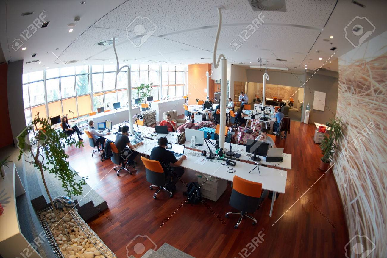 startup business people group working everyday job  at modern office Stock Photo - 49116646