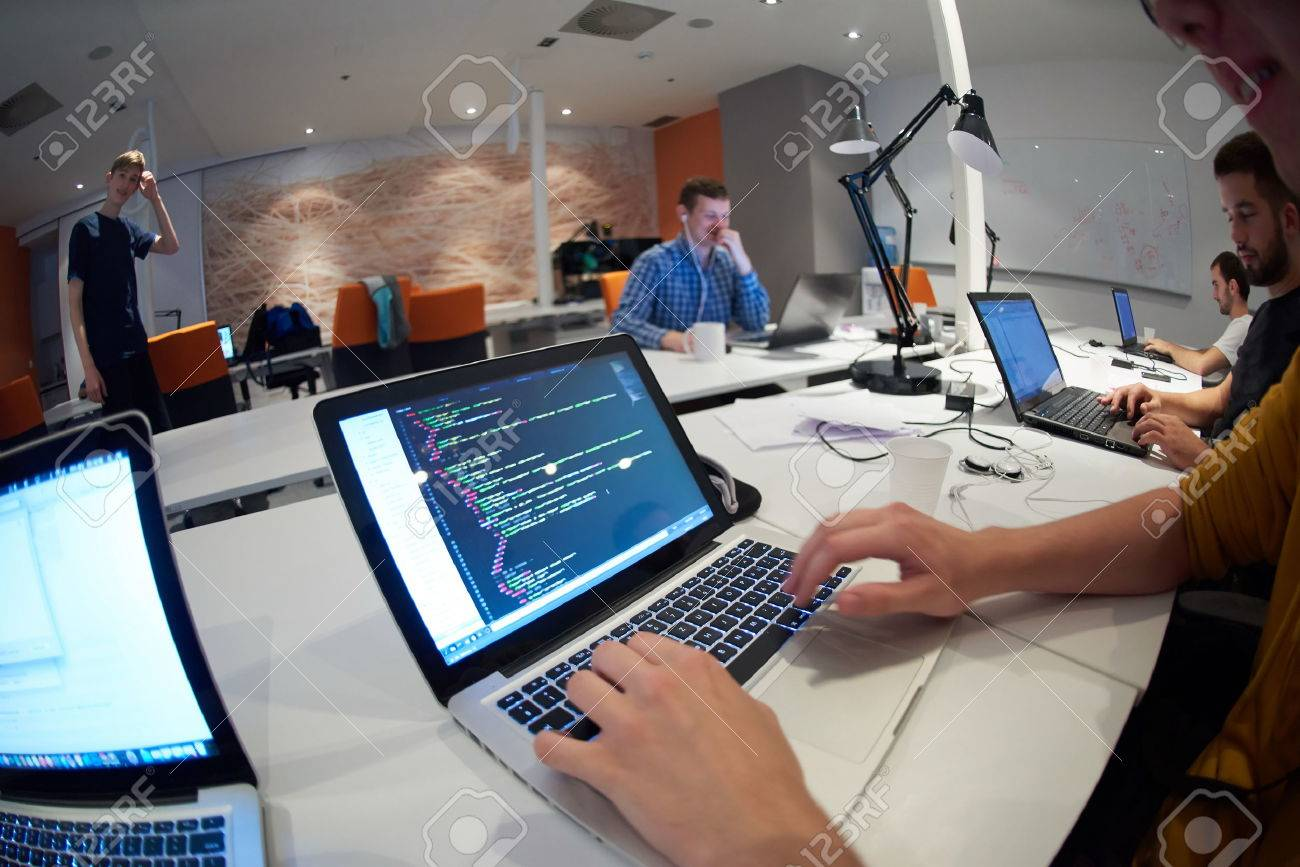 startup business people group working everyday job  at modern office Stock Photo - 49118067