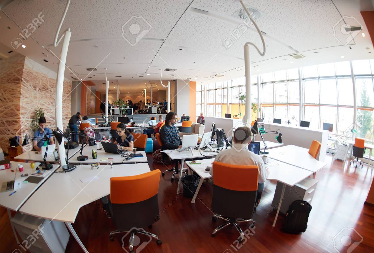 startup business people group working everyday job  at modern office Stock Photo - 49118163