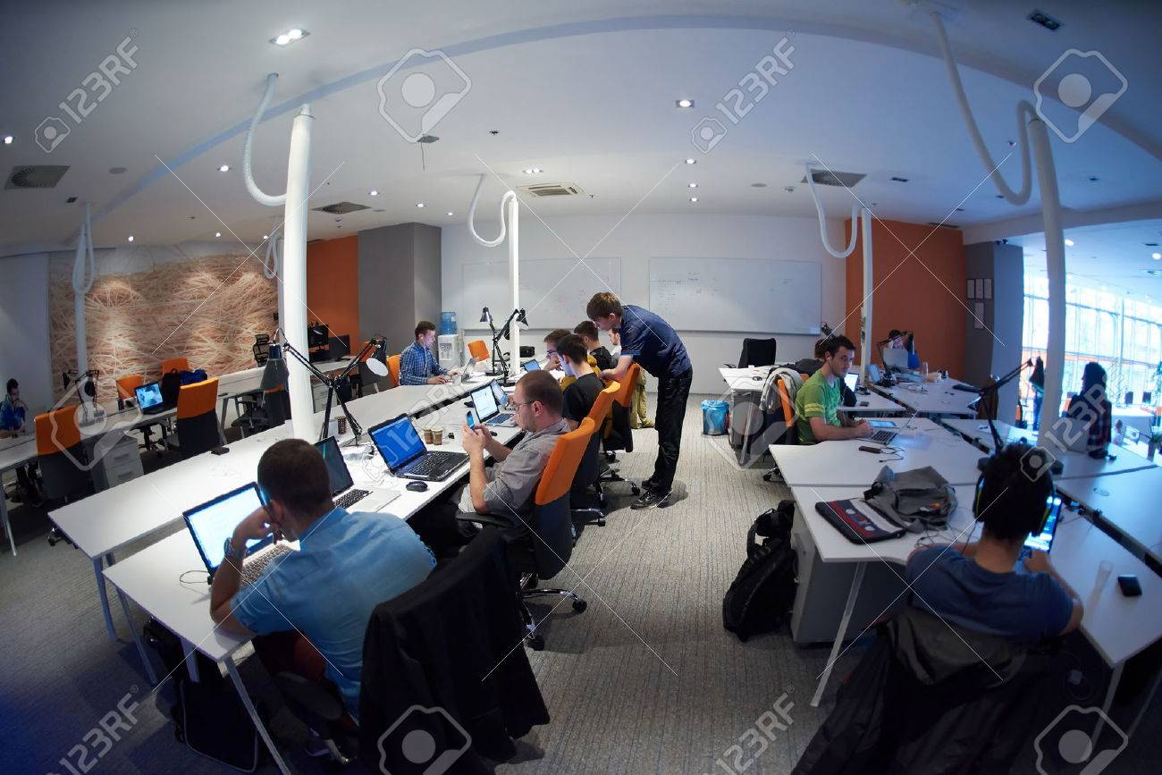 startup business people group working everyday job  at modern office Stock Photo - 49118170