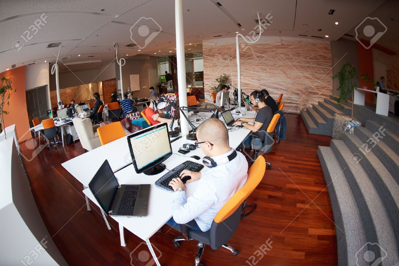 startup business people group working everyday job  at modern office Stock Photo - 49118832