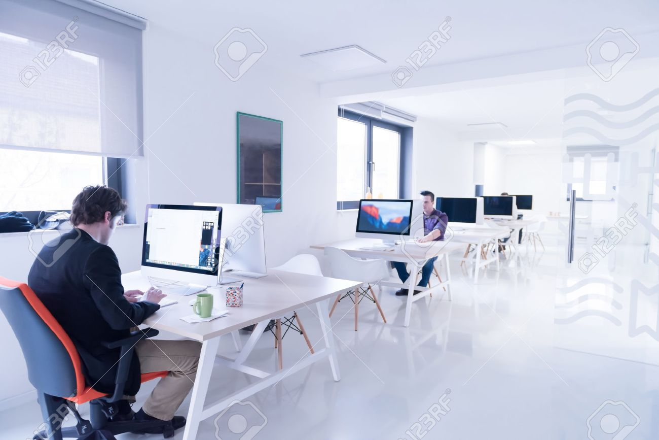 startup business, software developer working on computer at modern office Stock Photo - 52352728