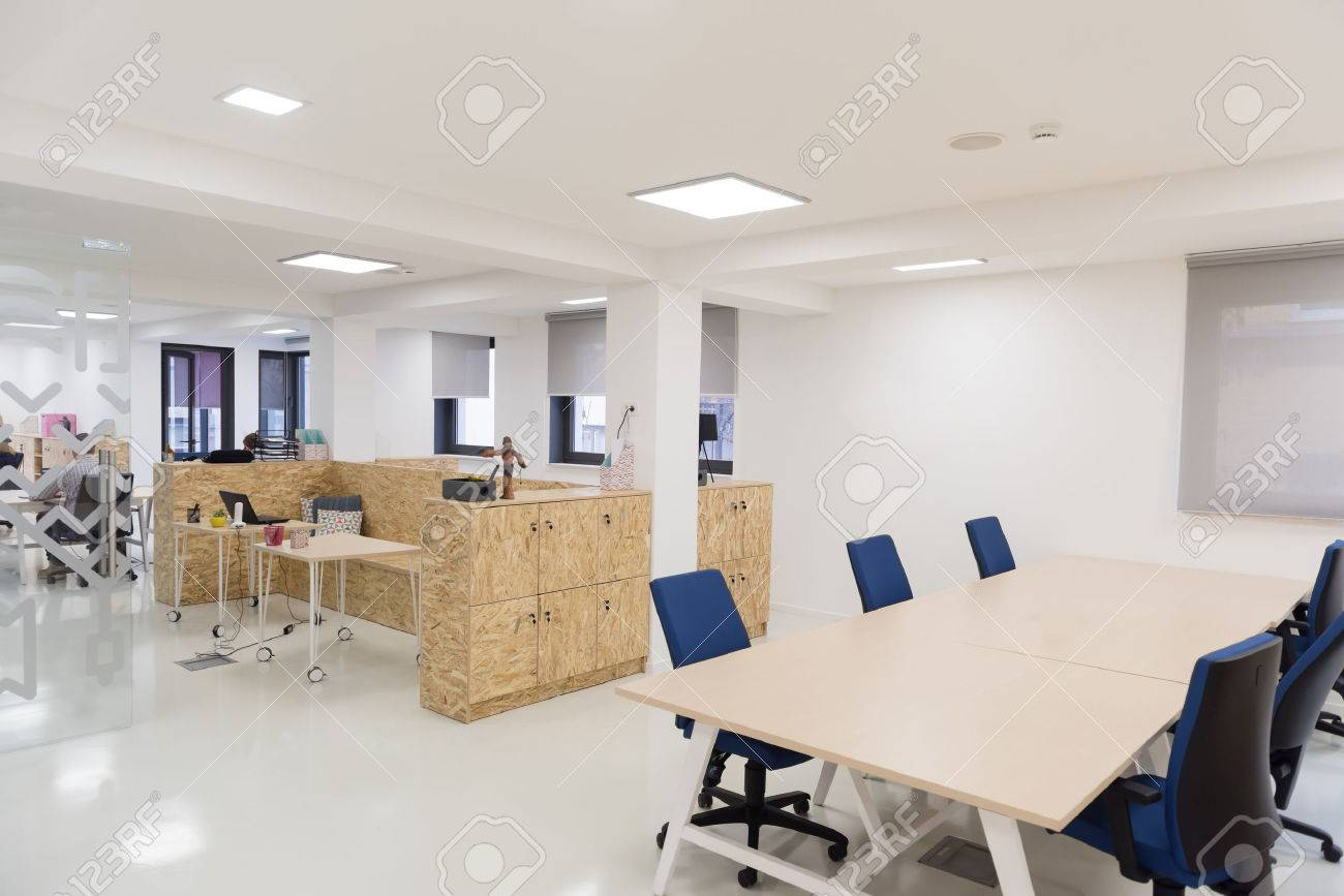 empty  startup business  office interior with modern computers and furniture Stock Photo - 52378795