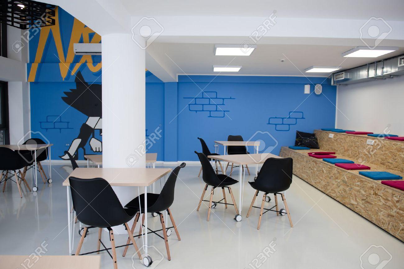 Bureau d\'affaires détails intérieurs démarrage, lumineux espace de travail  moderne
