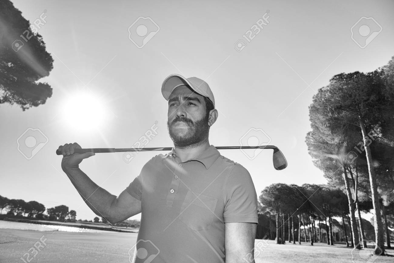 Handsome Middle Eastern Golfer Portrait At Golf Course Black Stock Photo Picture And Royalty Free Image Image 66672052