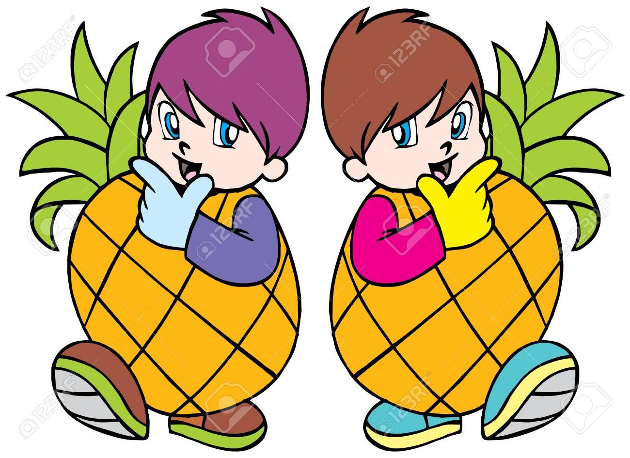 Pineapple boy Stock Vector - 5477522
