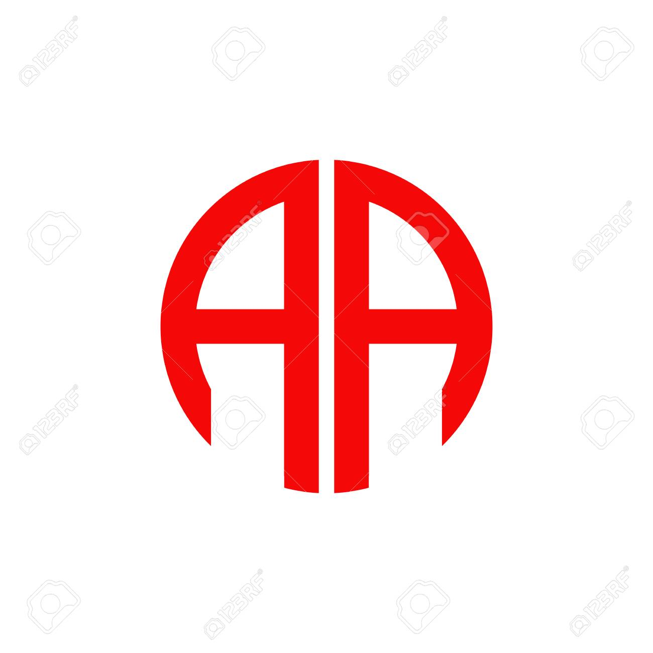 Aa Letter Logo Design Vector Template