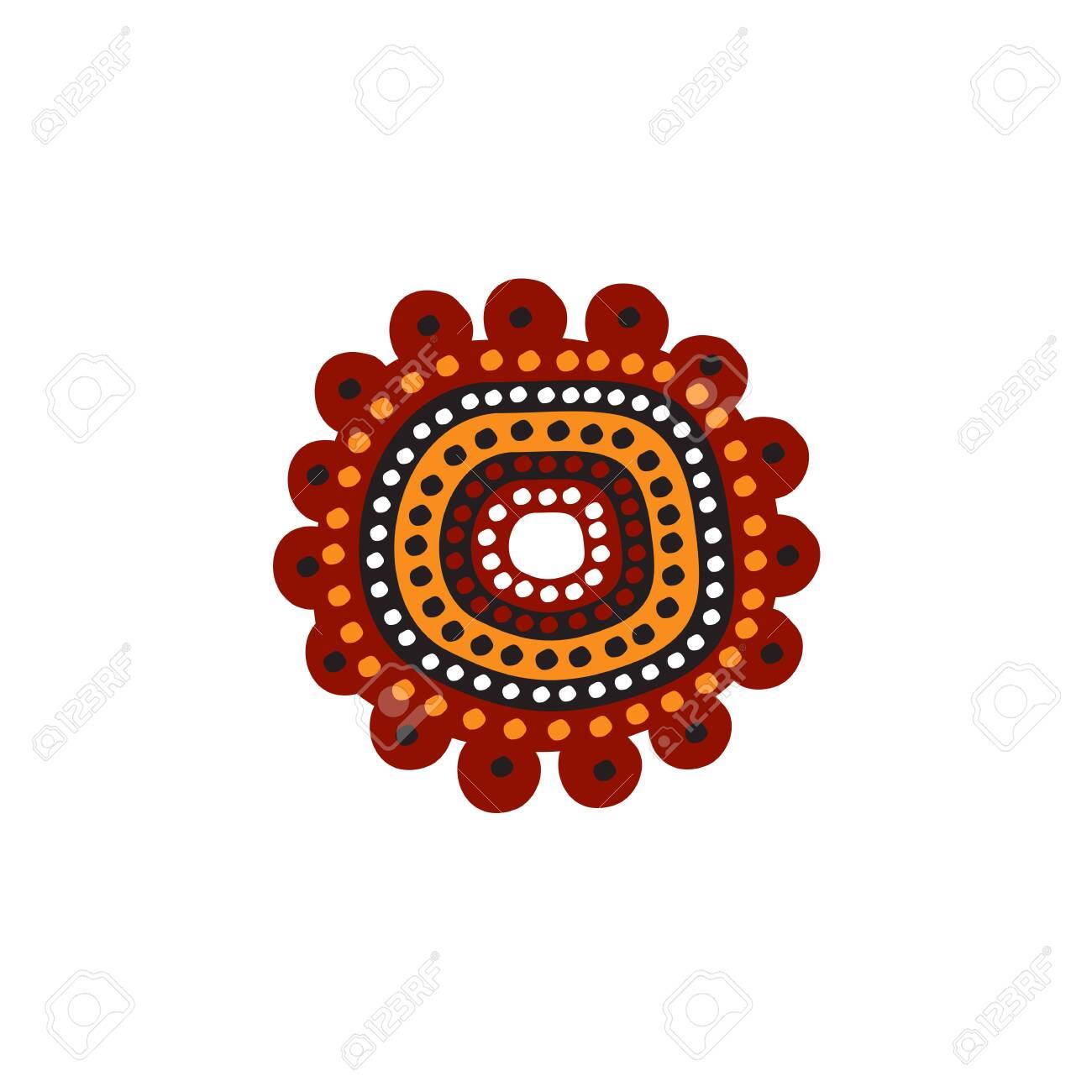 Aboriginal art icon design vector template - 125043878