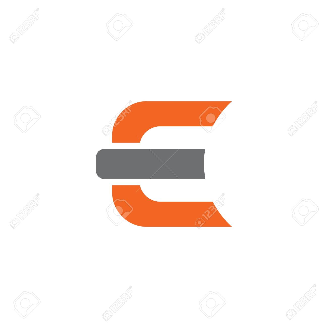 E letter initial design vector template - 128630678