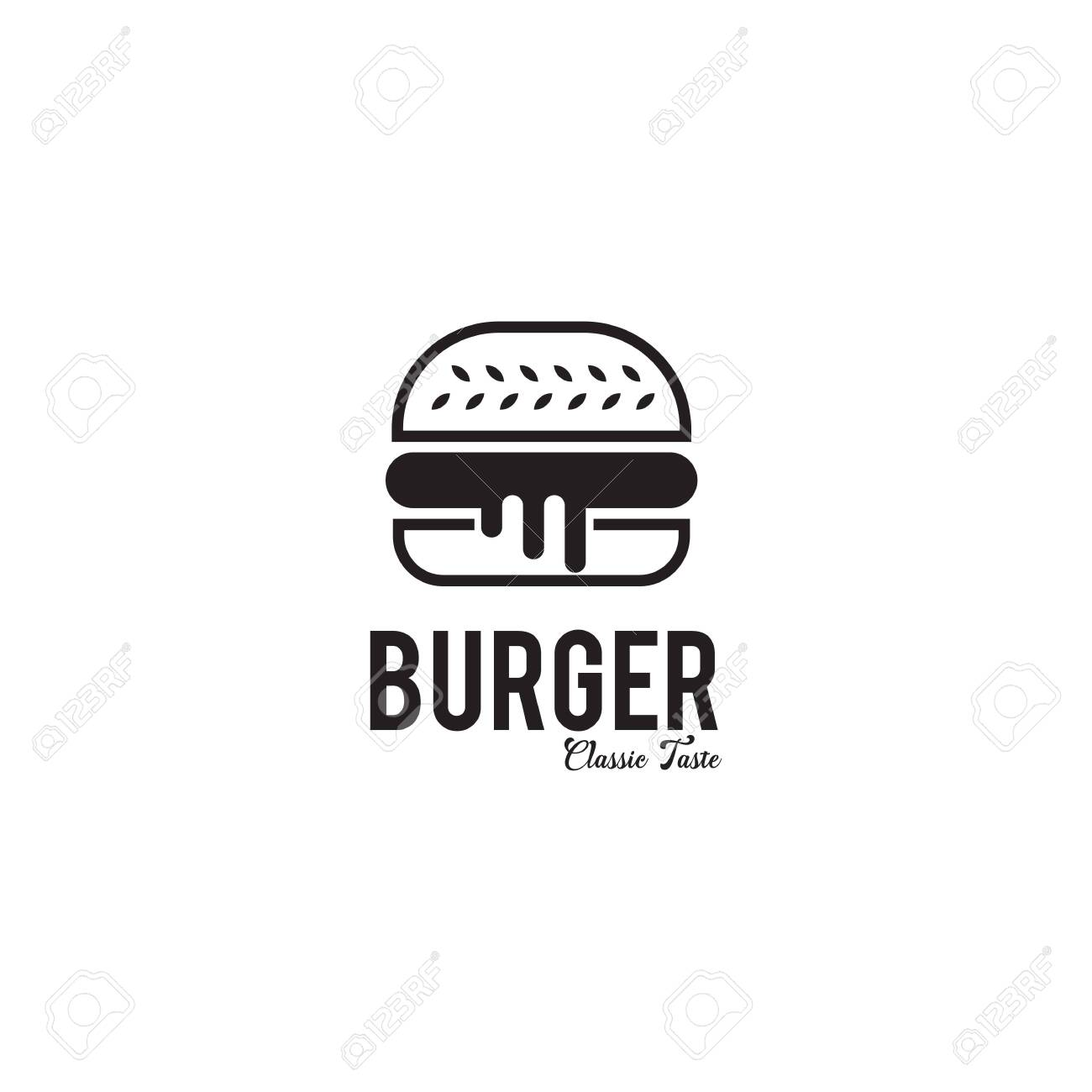 Burger Restaurant Logo Design Inspiration Vector Illustration Royalty Free Cliparts Vectors And Stock Illustration Image 129154975