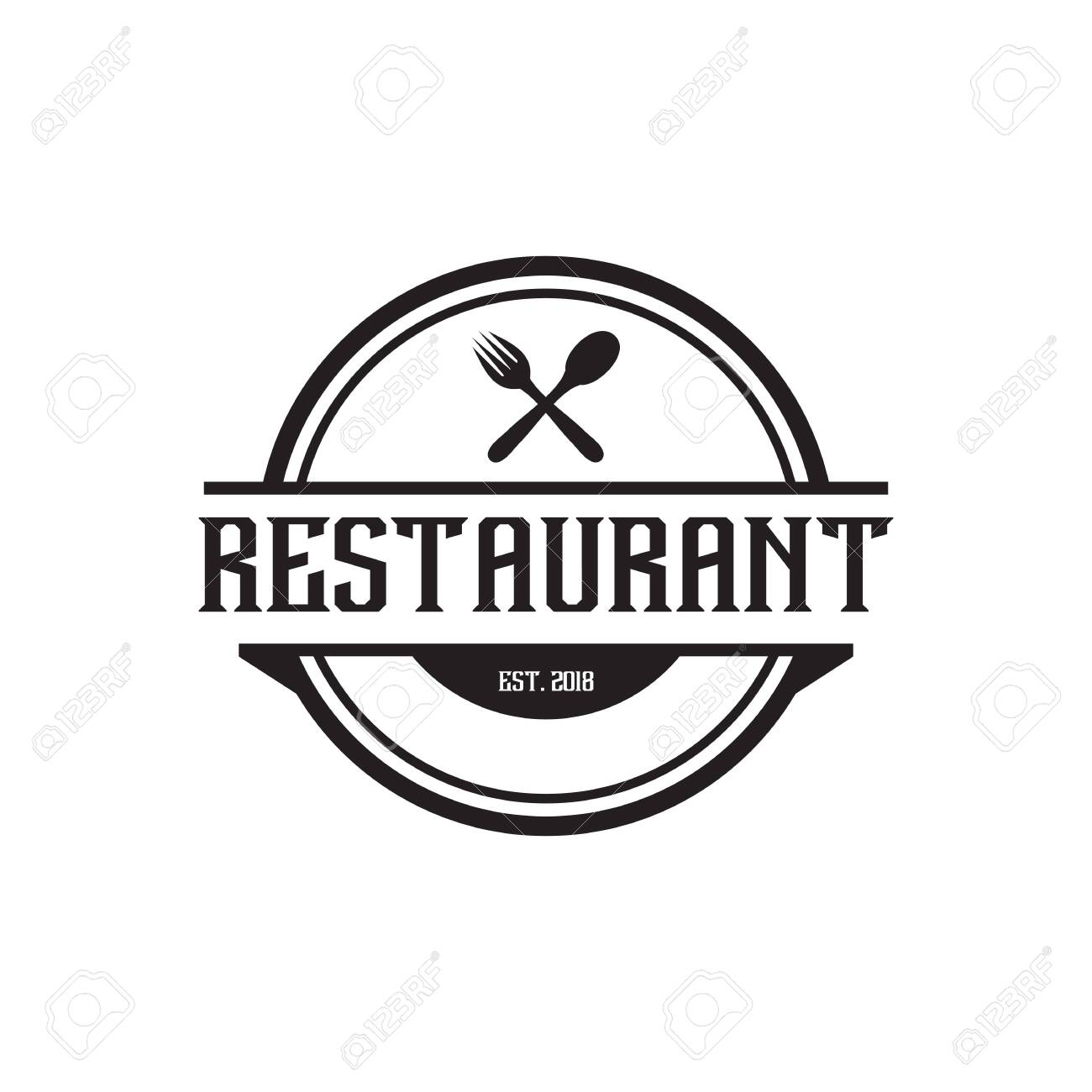 Restaurant Logo Design Inspiration Concept Vector Template Royalty Free Cliparts Vectors And Stock Illustration Image 129604362