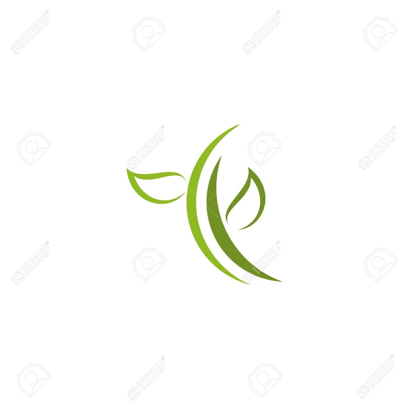 Eco green leaf icon logo design inspiration vector template - 134008458