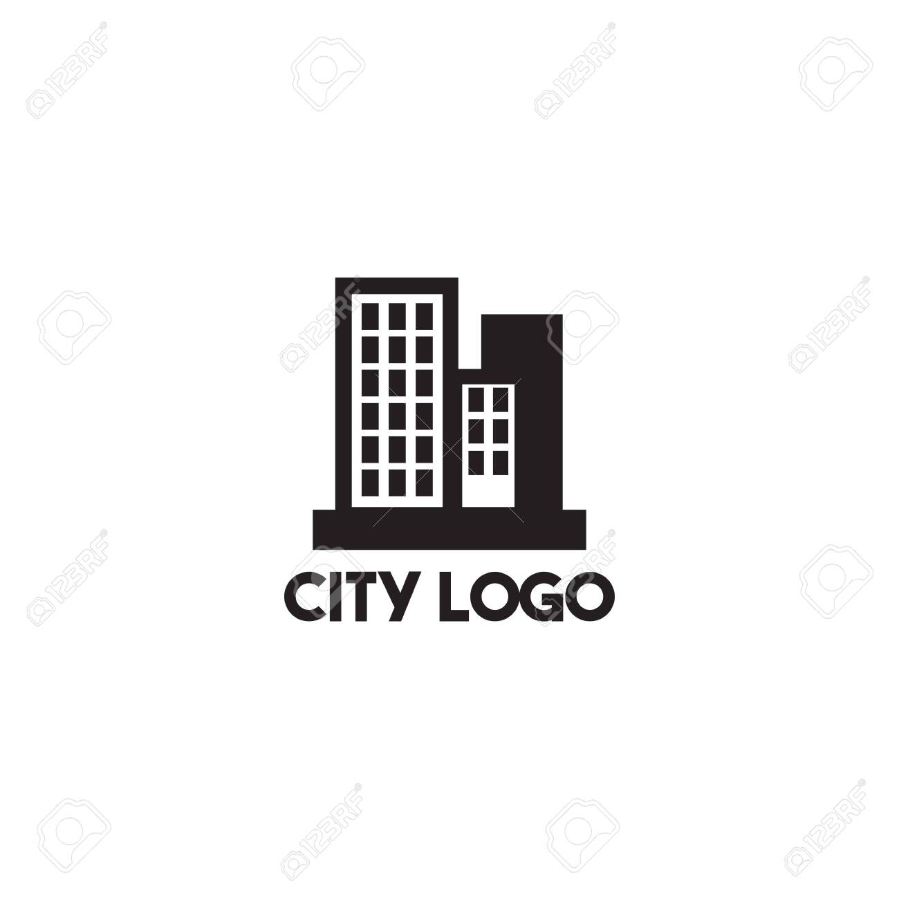 City Building Icon Logo Design Inspiration Vector Template Royalty Free Cliparts Vectors And Stock Illustration Image 136970939