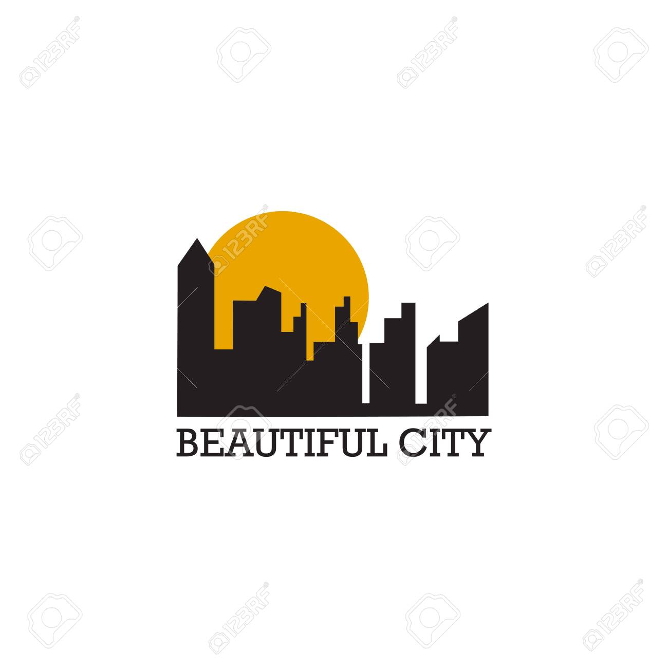 City Building Icon Logo Design Inspiration Vector Template Royalty Free Cliparts Vectors And Stock Illustration Image 136970940