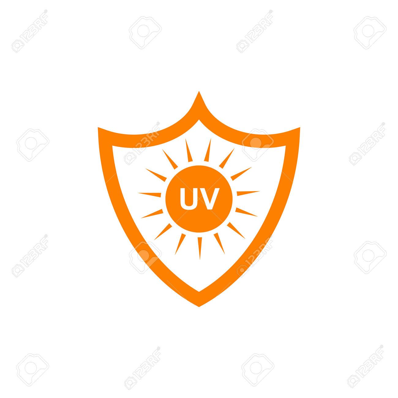 Ultra violet ray protection inspiration emblem logo design vector illustration template - 136971482