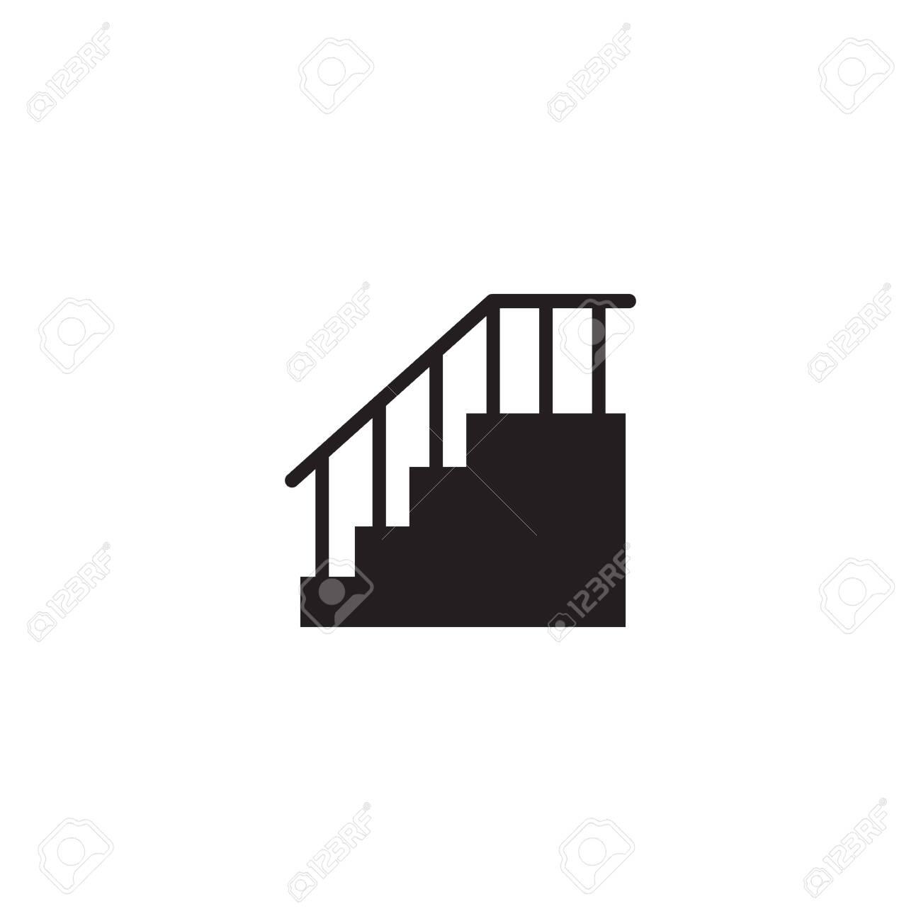 Stair icon logo design icon vector illustration template - 141175273