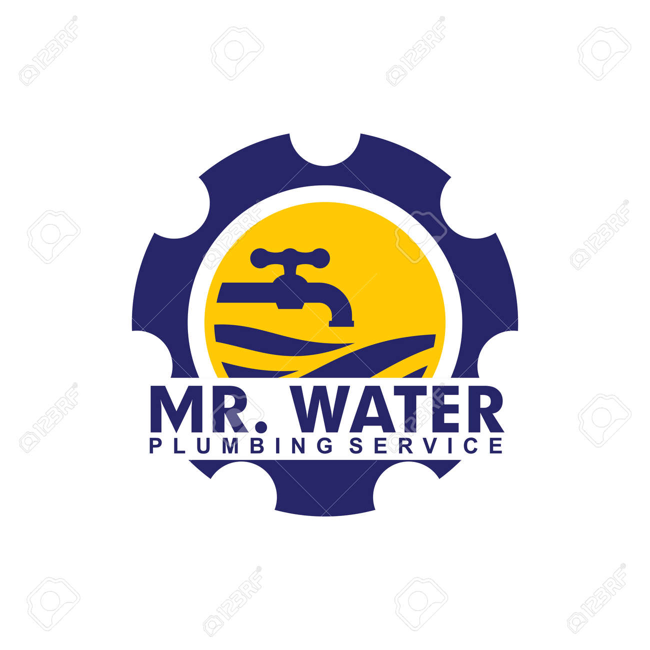 Industrial business company logo design with using gear icon vector template - 157618481
