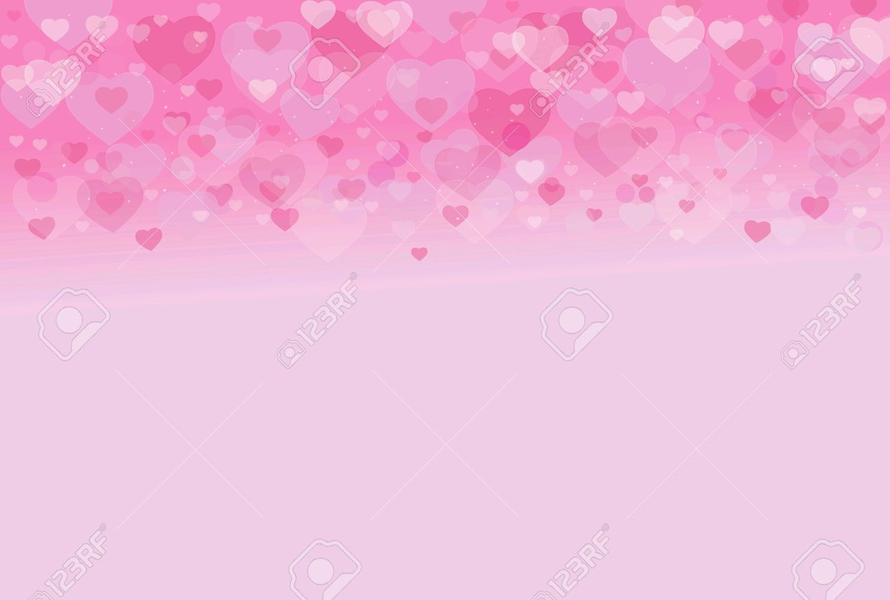 Pink Sweet Love Heart Valentine Background Blur Effect Light Stock