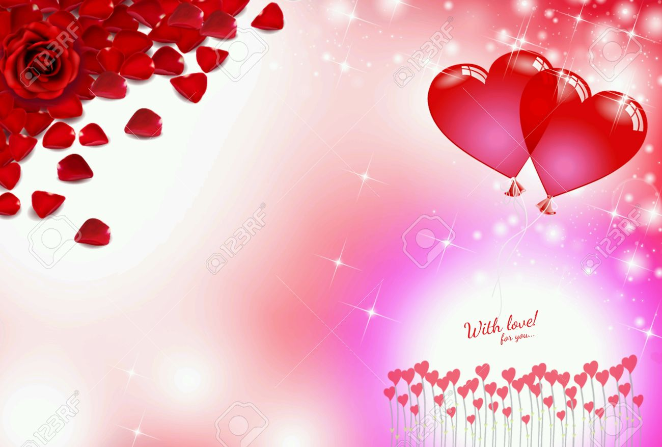 roses red love heart valentine background blur bokeh effect light