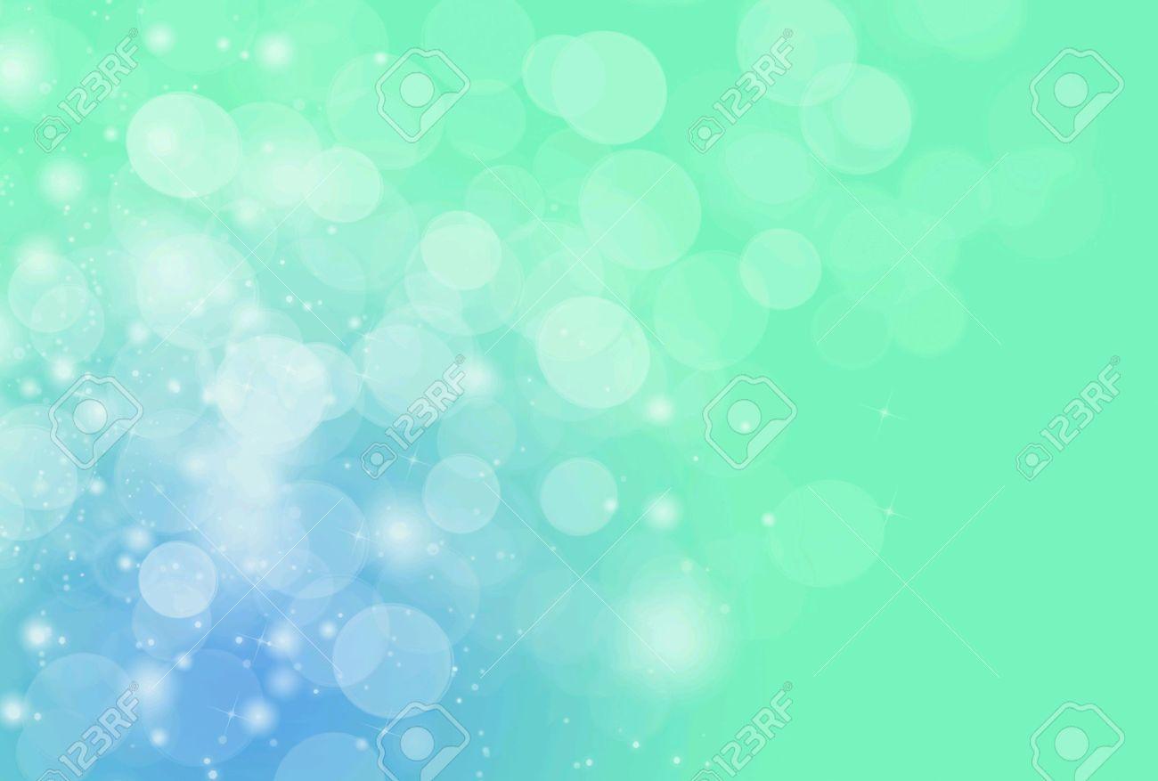 Bokeh Blur Background Green Blue Abstract Blur Wallpaper Stock