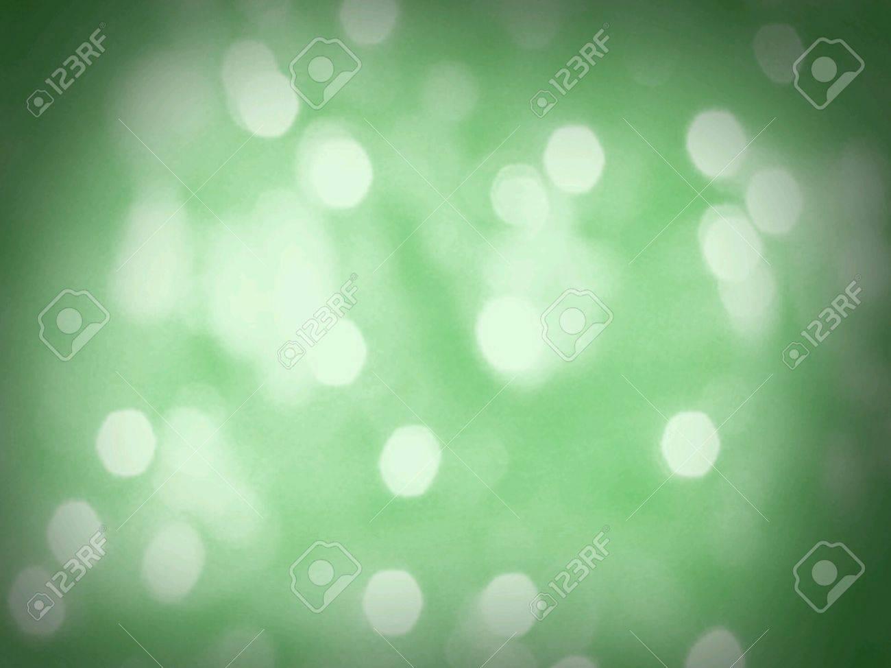 Green Light Effects Background Green Bokeh Light Blur Effect
