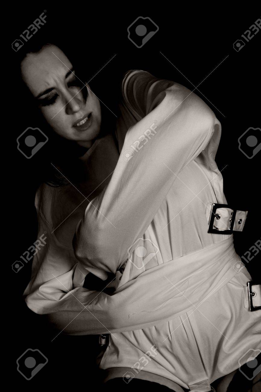 Woman In Straightjacket Stock Photo Picture And Royalty Free