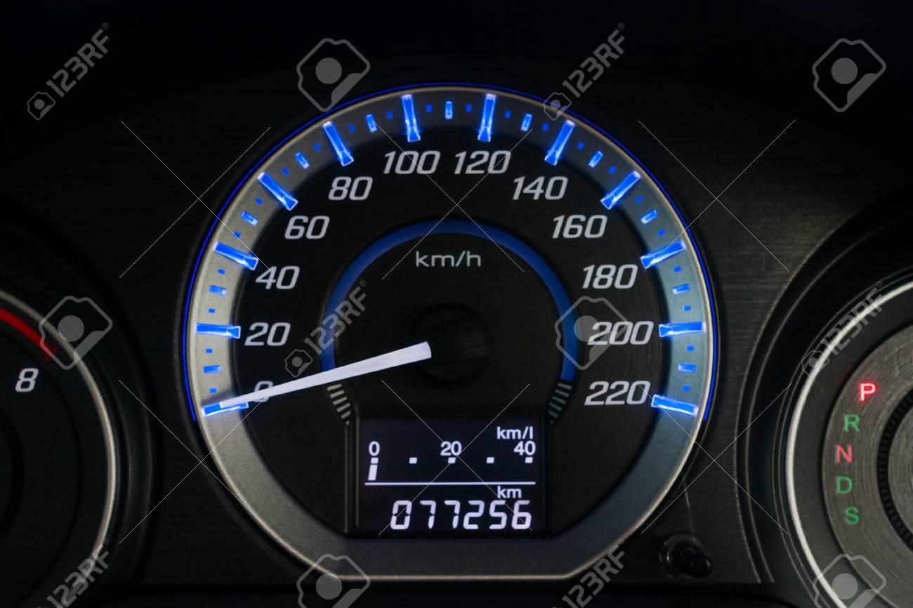 Car Speed Dashboard, with LED display