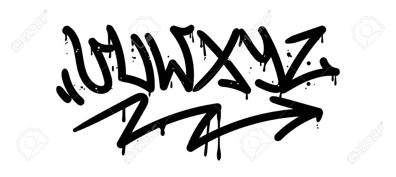 Set Street Type Calligraphy Design Alphabet Graffiti Style Tag