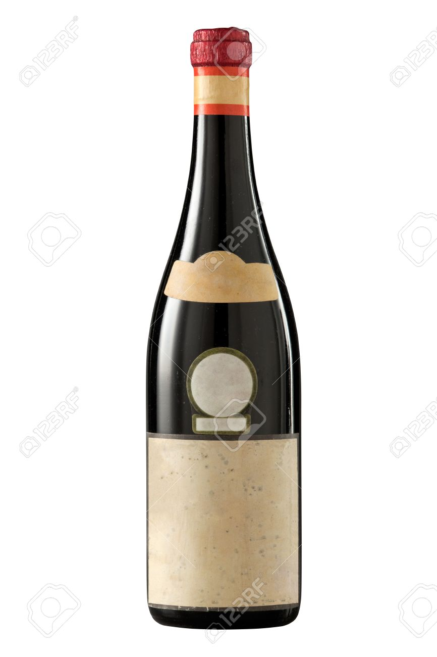 very old 1960s red wine bottle on white stock photo 22290626 bottle red wine