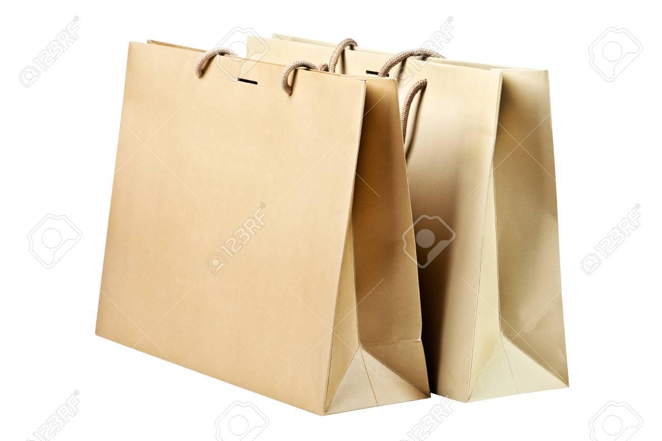 Two  shopping bags on white Stock Photo - 22290676