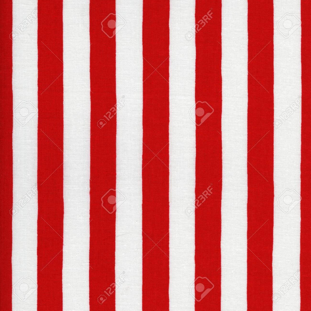 Endless White And Red Striped Fabric Stock Photo Picture And