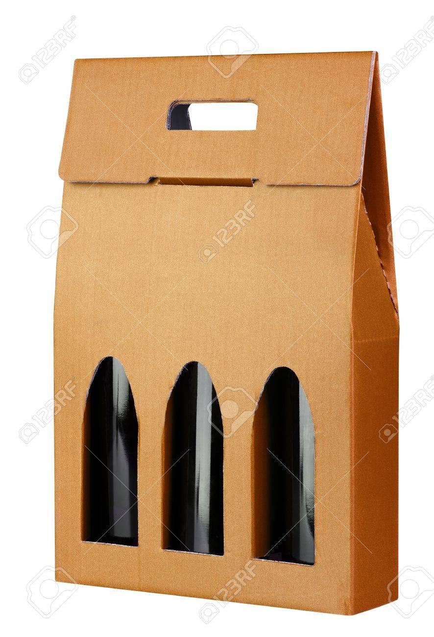 Wine Gift Box Isolated On White