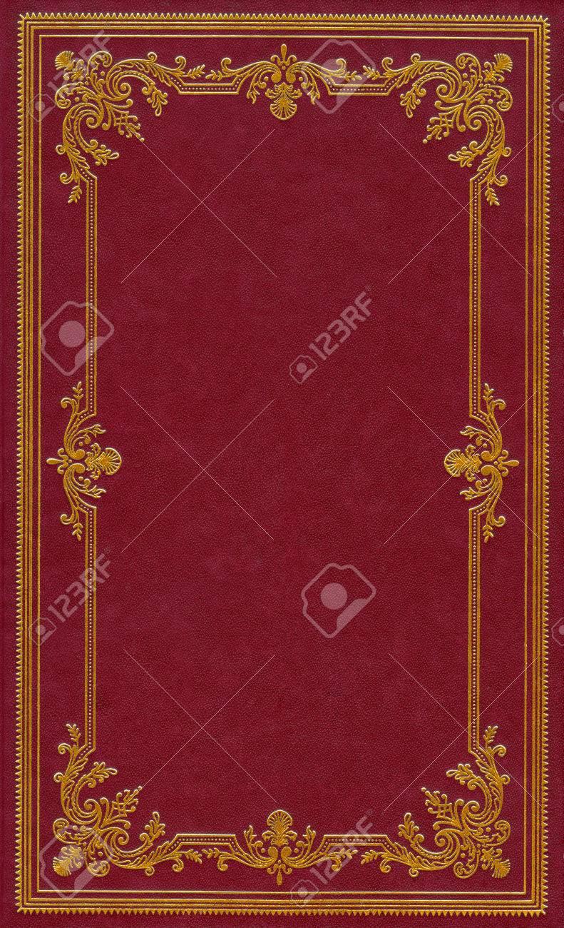 Couverture De Livre En Cuir Rouge Fonce