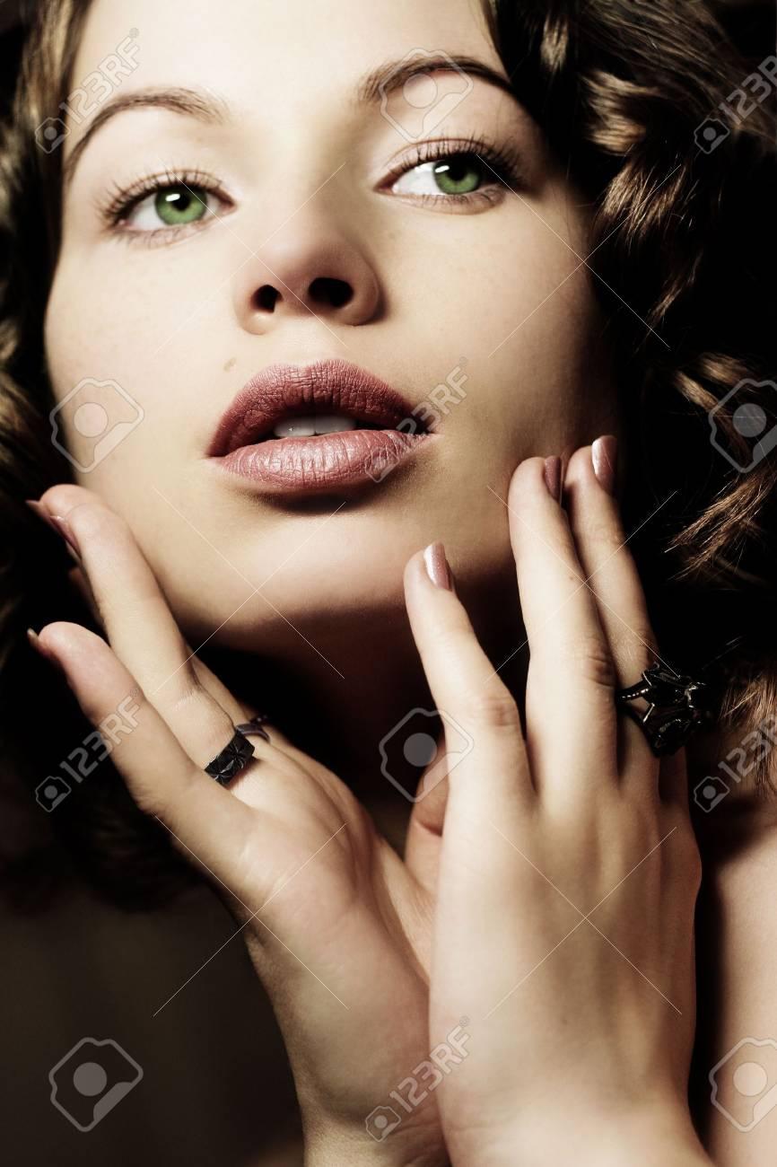 Beautiful woman. Fashion art photo. Close-up makeup Stock Photo - 2038992