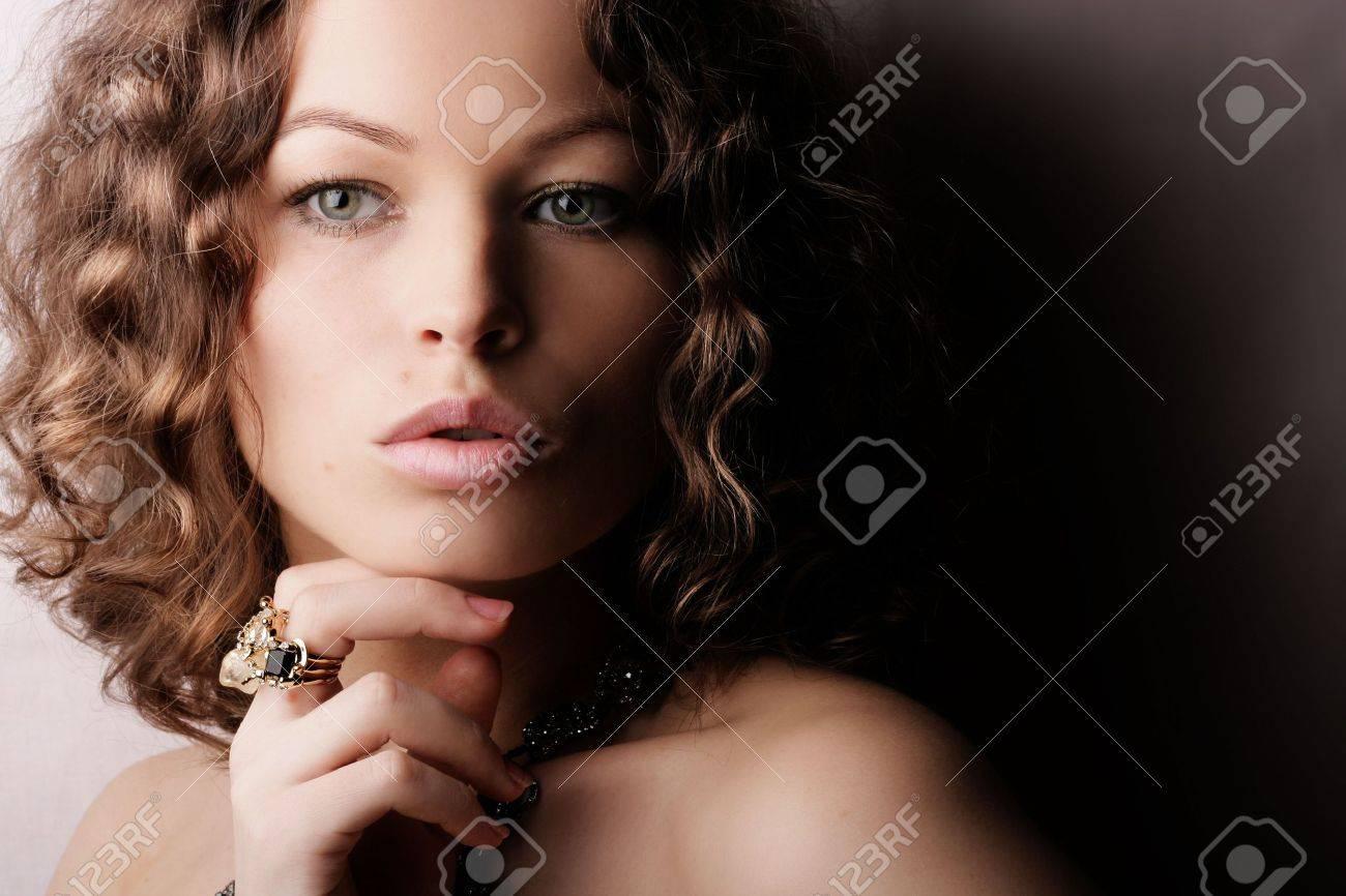 Beautiful woman. Fashion art photo. Close-up makeup Stock Photo - 2414715