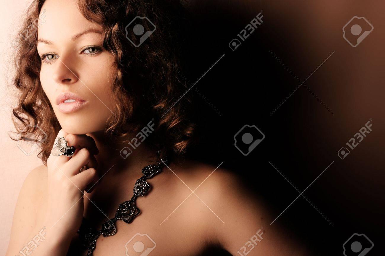 Beautiful woman. Fashion art photo. Close-up makeup Stock Photo - 2421392