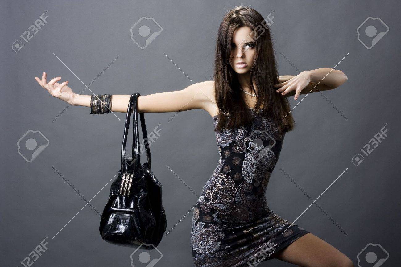 portrait of a girl with a bag Stock Photo - 5809859