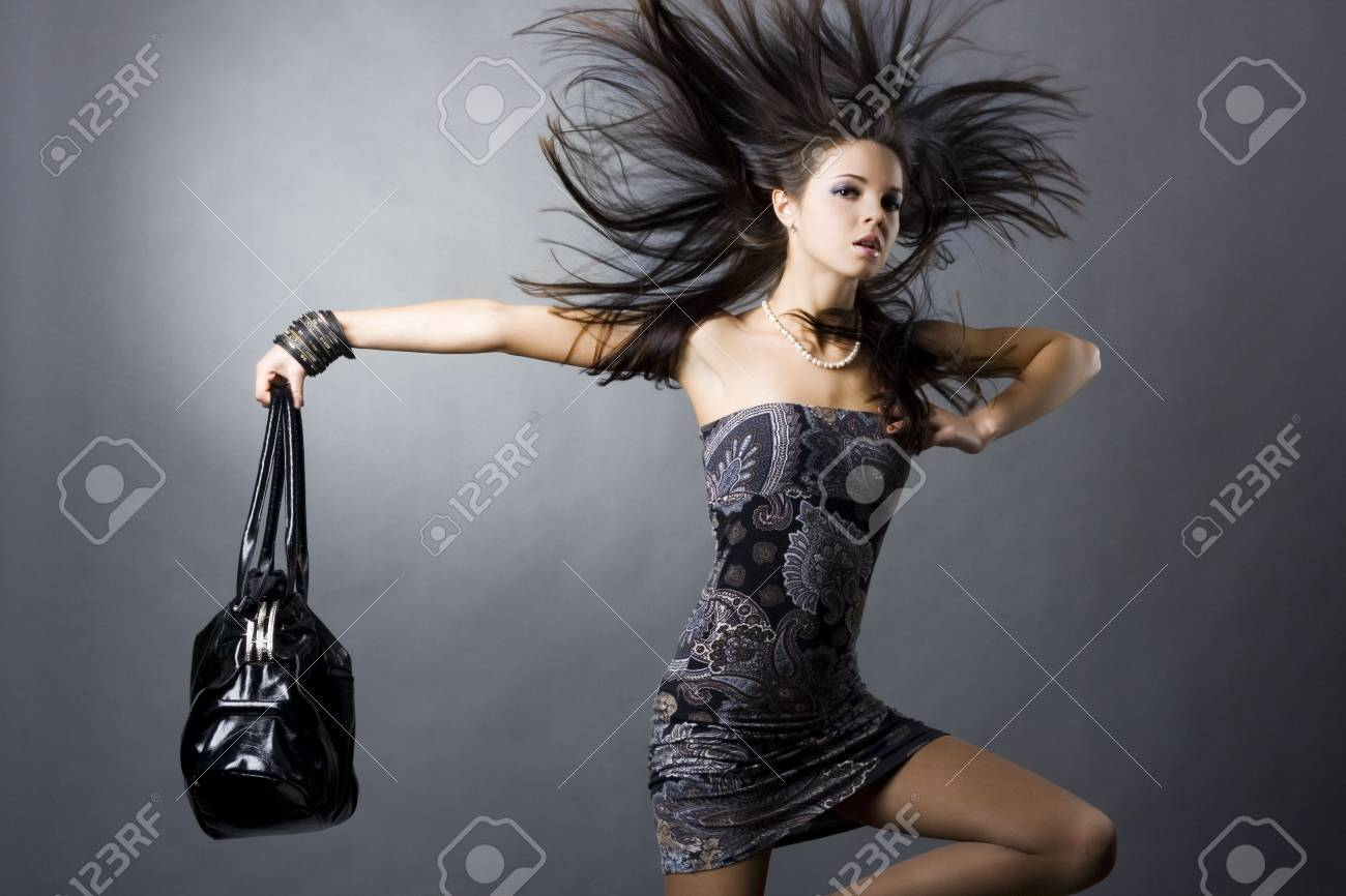 portrait of a girl with a bag Stock Photo - 5809858
