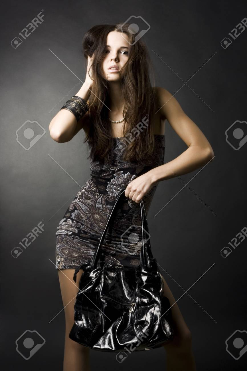 portrait of a sexy girl with a bag Stock Photo - 6314058